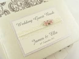 vintage wedding guest book personalised wedding guest book vintage style lace