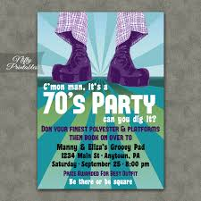 theme invitations 70 s party invitations printable 1970s theme party invitation