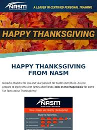 national academy of sports medicine thanksgiving fitness