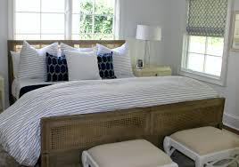 Blue And White Bedrooms Blue And White Master Bedroom With Stripes And Nautical Accents