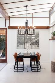 Midcentury Modern Chandelier Decorating Black Chandelier By Kichler With Faux Ceiling Beams