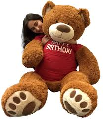 5 foot giant teddy bear 60 inches soft cookie dough brown color