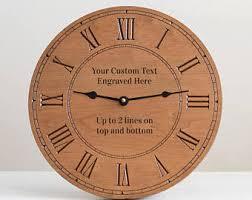 engraved clock etsy