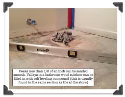 How To Level A Bathroom Floor My Super Secret Way To Install Bathroom Floor Tile Part 1