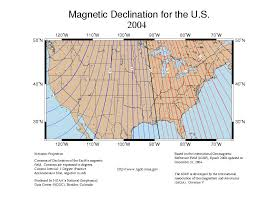 magnetic declination map magnetic declination finding true south alte