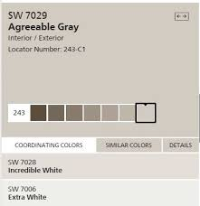 sherwin williams agreeable gray for the walls extra white for the