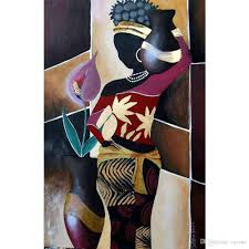 cheap african art paintings women free shipping african art