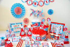 Dr Seuss Home Decor by Twin Boy Baby Shower Decorations Part 49 Blue Accented Twin
