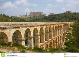 roman aqueduct in tarragona spain stock photo image 25597470