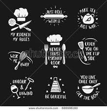 kitchen posters set quotes stock vector 608996180