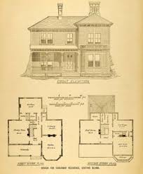 1854 country house plans architectural antique by sofrenchvintage