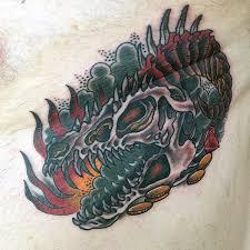 47 amazing dragon skull tattoos designs u0026 ideas picsmine