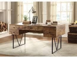 rustic desk single pedestal desk with file drawer