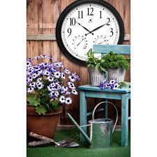 the 24 outdoor lighted atomic clock 24 outdoor wall clock and thermometer outdoor designs
