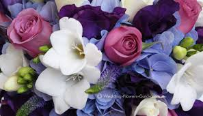 wedding flowers blue and white flowers to fit your wedding color theme