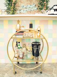 byob cocktail emporium shows us how to stock and style a bar cart