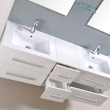 Double Basin Vanity Units For Bathroom by 1500mm Double Vanity Basin Unit White Gloss