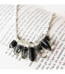resin bead necklace images Black swirls transparent resin necklace resin beads resin jpg