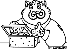 zootopia clawhauser police lion coloring page wecoloringpage