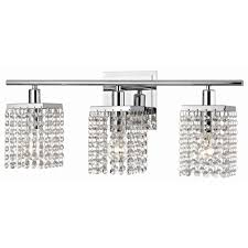3 light crystal bathroom vanity light 2276 26 destination lighting