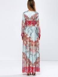low cut printed beled maxi dress floral maxi dresses s zaful