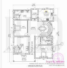 elevation and free floor plan home kerala plans in ground home