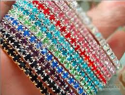 colored tennis bracelet images Best fashion jewelry multi color rhinestone crystal stretch jpg