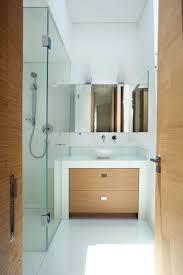 architecture white and bright wooden theme bathroom decor