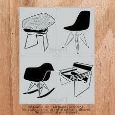 Century Chair Classic Mid Century Chair Stencils By Stencil 1 Design Milk