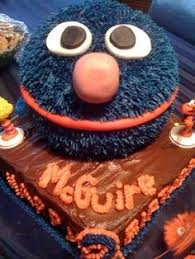 super grover cake owen u0027s 2nd birthday cake sesame