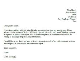 formal resignation letter formal resignation letter for nurses