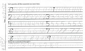 first grade lined writing paper home school support network cursive first handwriting samples number practice