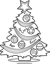 christmas tree black and white clipart many interesting cliparts
