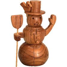 wooden snowman snowman 3d wooden jigsaw puzzle wood puzzles puzzle master inc