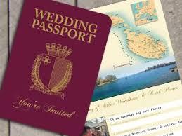 wedding invitations malta unique wedding invitations unique wedding invitation passport