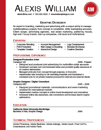 Sample Resume For Graphic Artist Resume Template Keyword Optimized For A Graphic Designer Fully