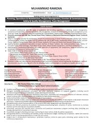Sample Resume For Maintenance Engineer by Maintenance Engineer Resume India Virtren Com