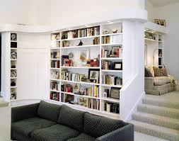 Open Shelving Room Divider Rectangle White Wood Open Bookcase Room Divider In Living Room