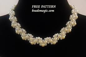 necklace pattern images Free pattern for beaded necklace novia beads magic jpg