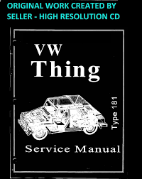 1973 1974 vw thing type 181 service manual book guide on a cd hi