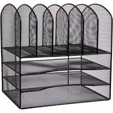 mesh metal office desk file organizer twentyfive wire mesh office