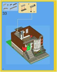 Lego House Floor Plan Lego Pet Shop Instructions 10218 Town