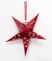 christmas hanging 3d stars rooms decoration stars festive party