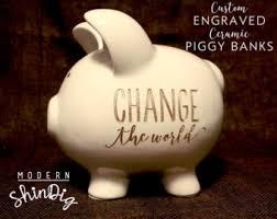 engraved piggy banks engraved piggy bank etsy