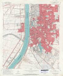 New Orleans Elevation Map by