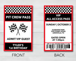 pit pass etsy