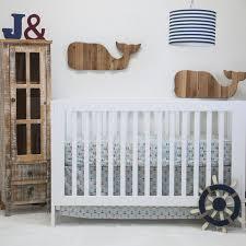 Nautical Crib Bedding Pam Grace Creations Anchors Away Nautical Basics 2 Crib