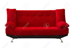 Modern Sofa by Red Fabric Modern Sofa On White Background Stock Photo Picture