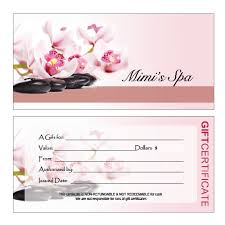 salon gift card hair nail spa printing