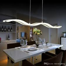 Dining Table Light Fixtures Modern Led Pendant L Light Kitchen Acrylic Suspension Hanging